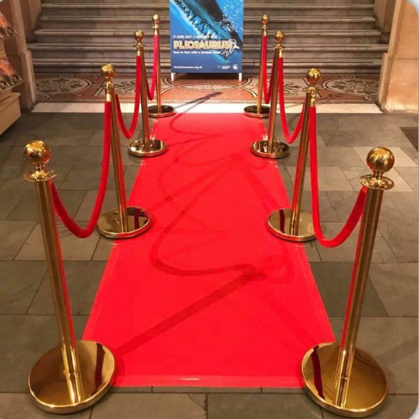 Red Carpet Rope and 4 bollards
