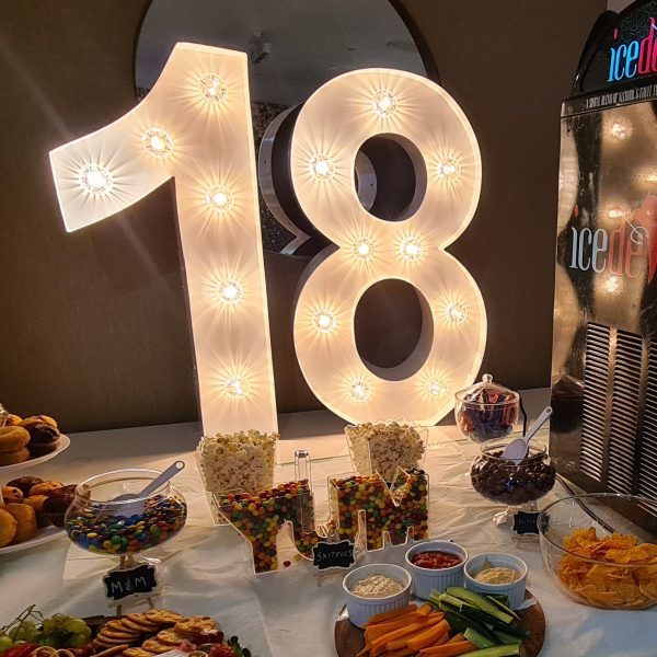 18 Giant light up numbers
