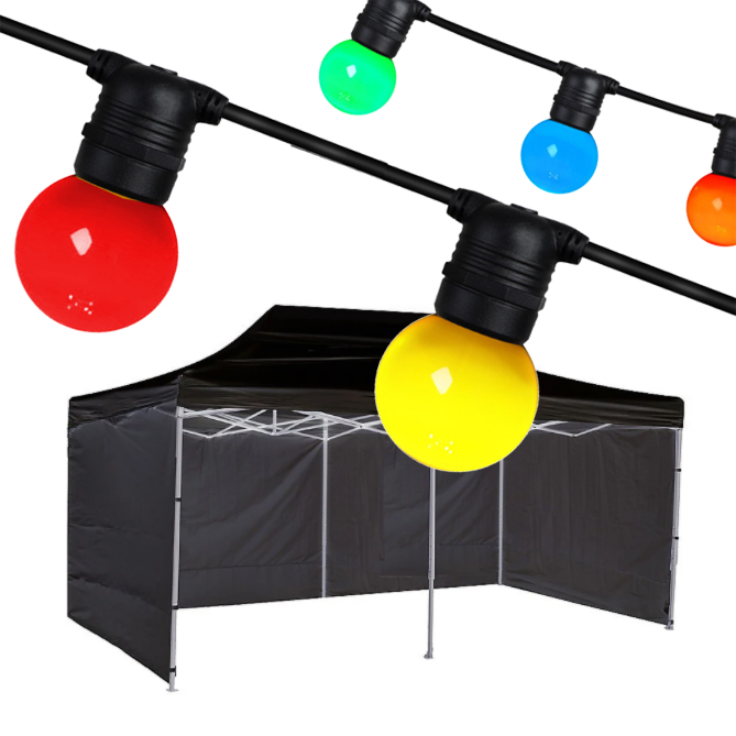 6 X 3 Party Tent and Festoon